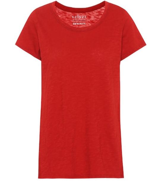 Velvet Tilly cotton T-shirt in red