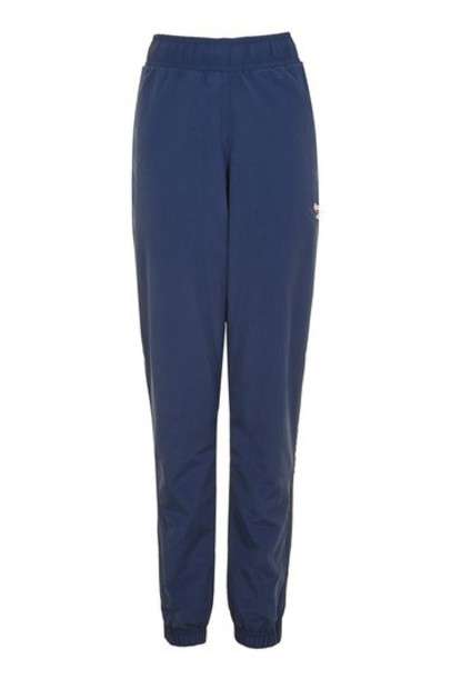 Topshop pants track pants navy blue