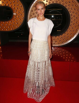 skirt isabel lucas maxi skirt