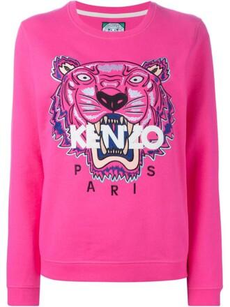sweatshirt tiger purple pink sweater