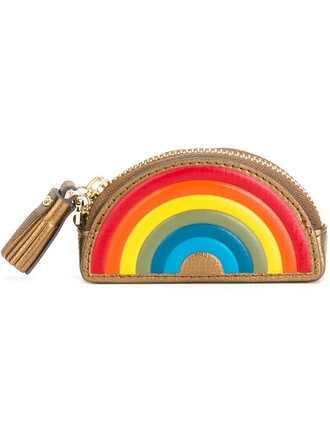 rainbow purse metallic bag