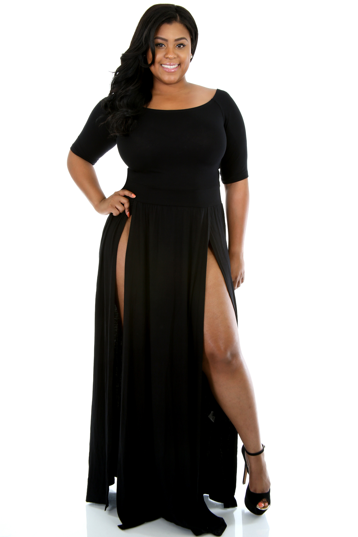 Double Split Maxi Dress