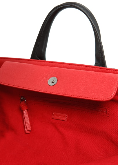 TOUCH - NEW - Contrasted interior tote bag