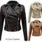 New ladies zip pvc faux leather cropped bomber biker jacket womens coat 8-14 | ebay