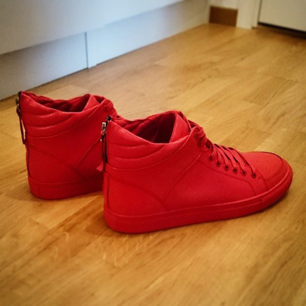 Red Gym Shoes Men