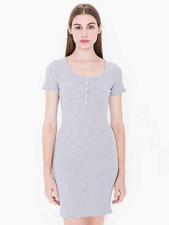 American apparel henley dress long