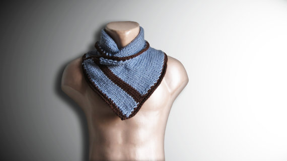 Hand Knit Neckwarmer Men  Winter Scarf Mens Chunky by MenAccessory