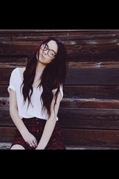 skirt,red,red skirt,acacia brinley,plaid,blouse