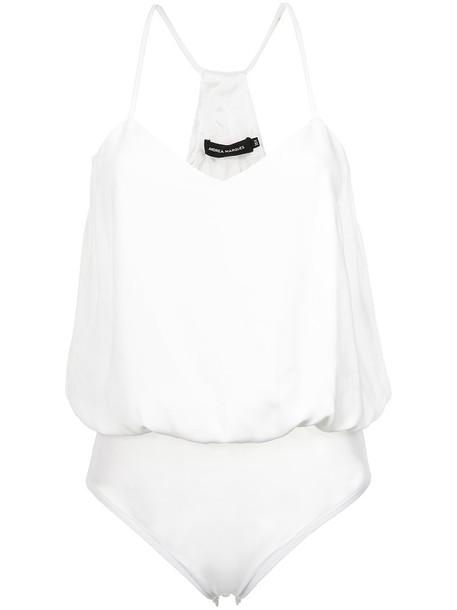 bodysuit straps women white underwear