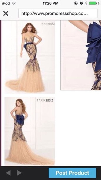 dress blue dress Bow Back Dress tarik ediz dress
