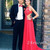 A-line Red Lace Chiffon Backless Long Prom Dress, Formal Dresses - 24prom
