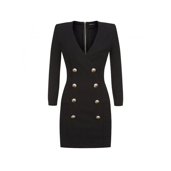 Balmain Double-Breasted Mini Dress