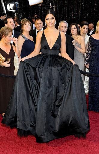 dress camila alves taffeta backlees taffeta dress oscars red carpet dress ball gown dress