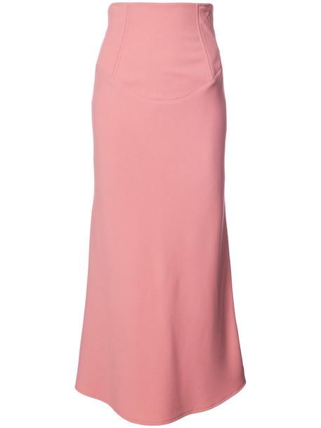 Tome skirt midi skirt women midi silk purple pink