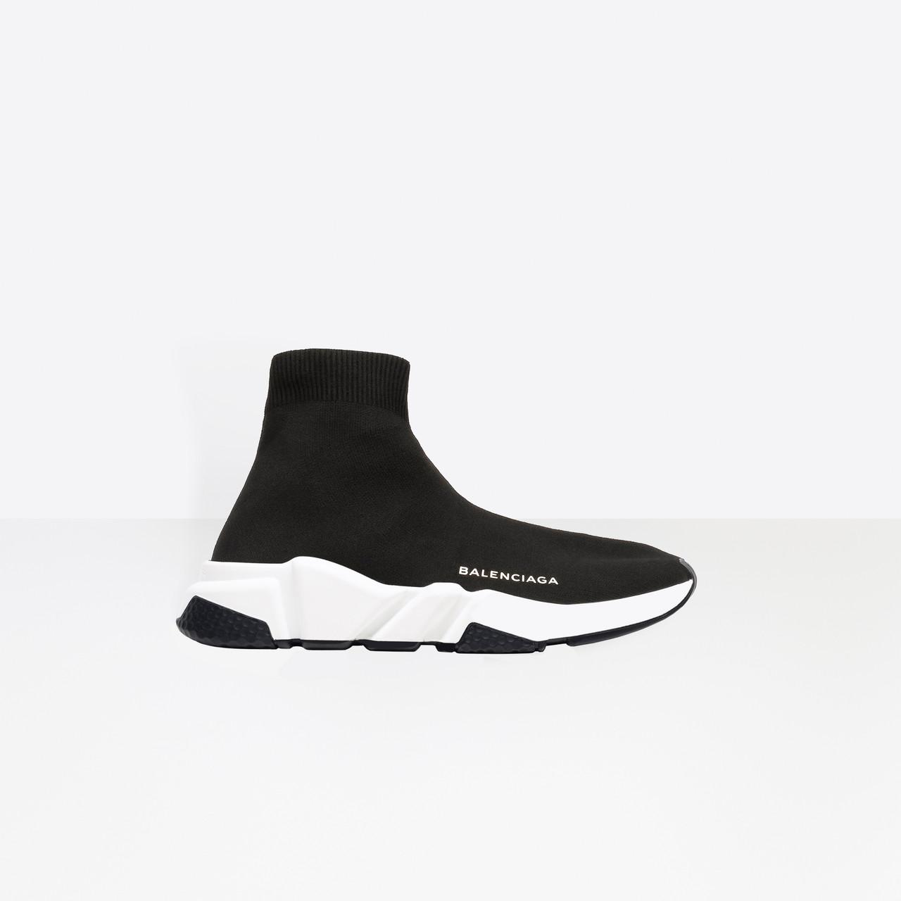 Balenciaga   Black Speed Knit Sock Sneakers for Men   Lyst