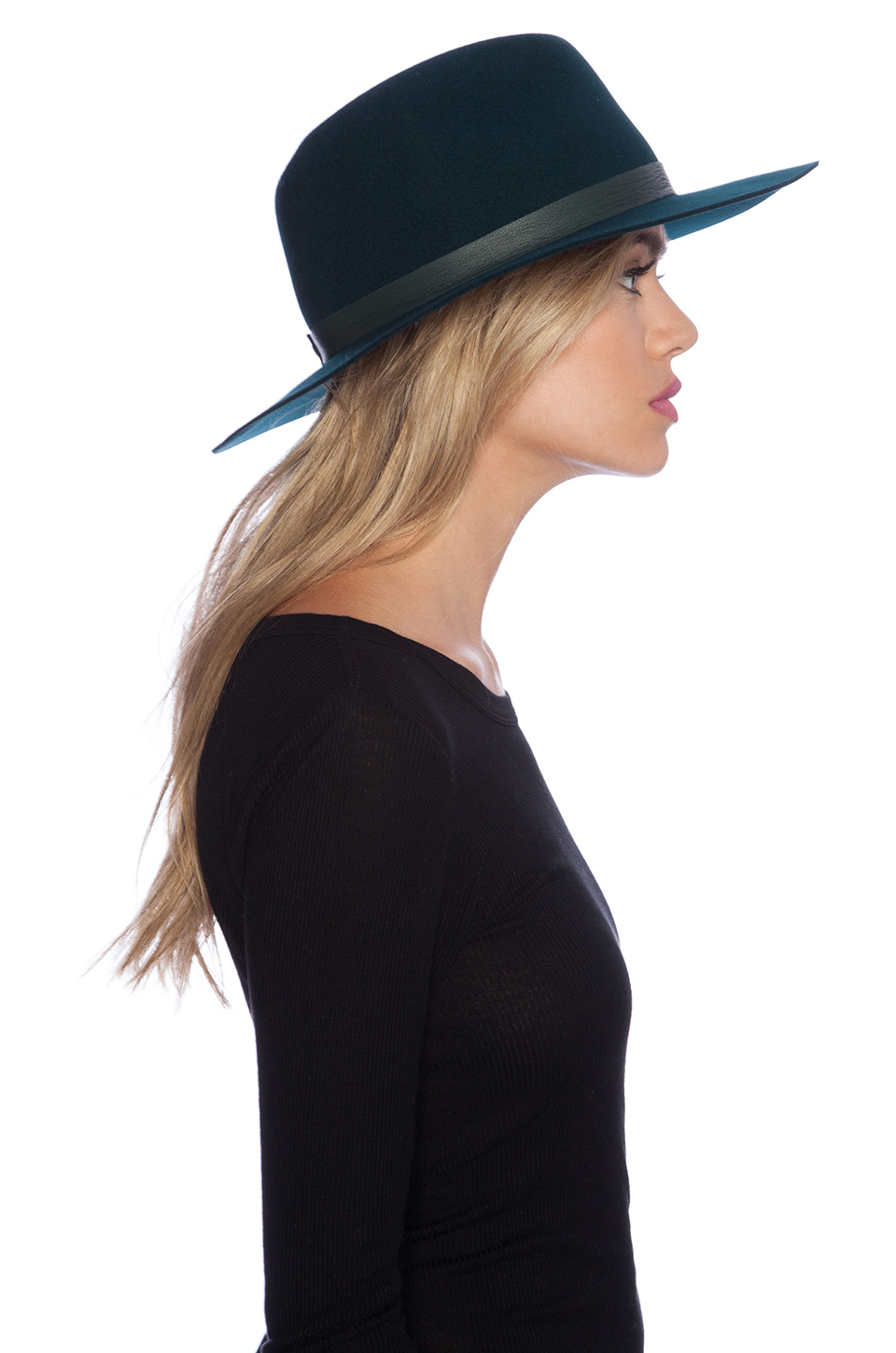 Janessa leone charles hat in forest green from revolveclothing.com