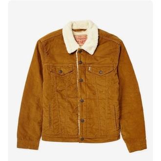 coat jacket mustard yellow levi's denim jacket