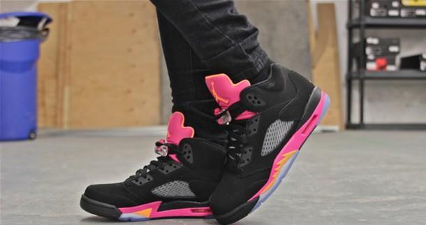 shoes pink black jordans jordans sneakers style swag dope orange cool