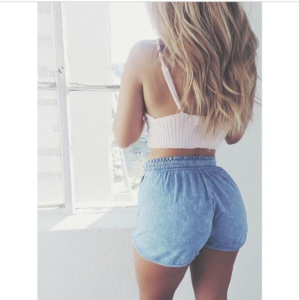 jeans délaver shorts top