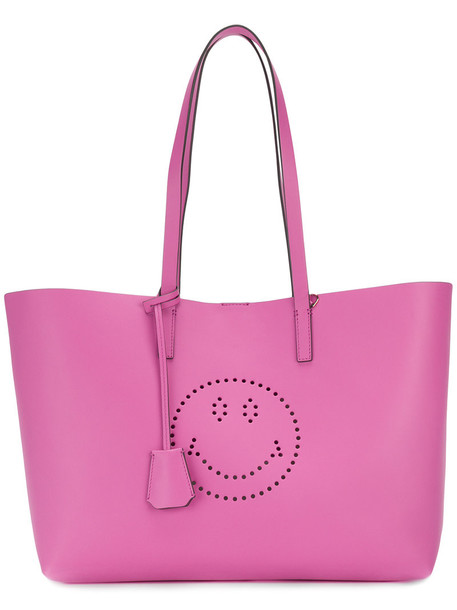Anya Hindmarch women bag tote bag leather purple pink