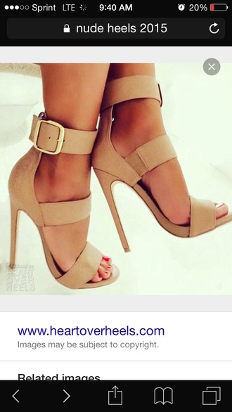 shoes nude nude heels buckles open toes