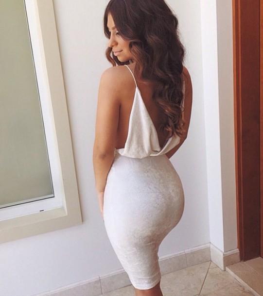 dress white white dress bodycon velvet dress skirt top bodycon dress