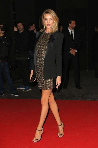 jacket dress blazer rosie huntington-whiteley brit awards 2015 sandals