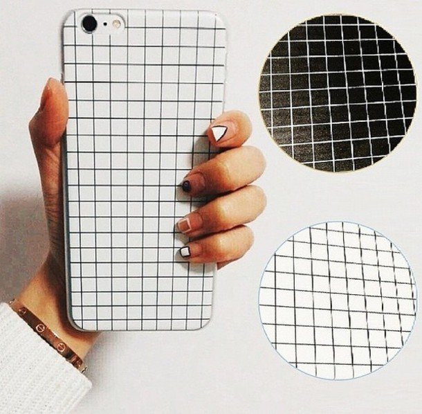 phone cover white black grey