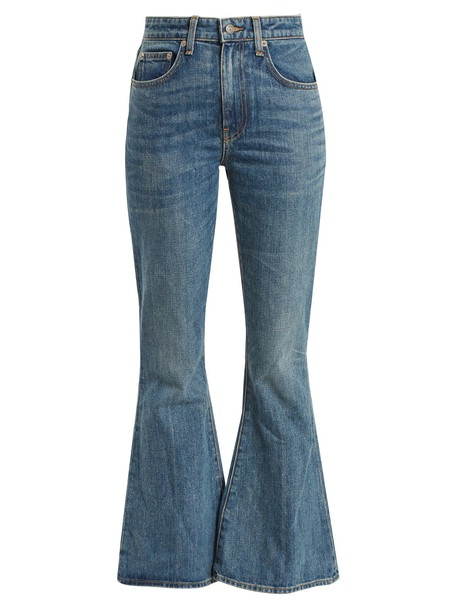 Brock Collection jeans cropped jeans flare cropped denim dark