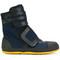 Marni - ridged sole boots - women - cotton/leather/rubber - 40, blue, cotton/leather/rubber