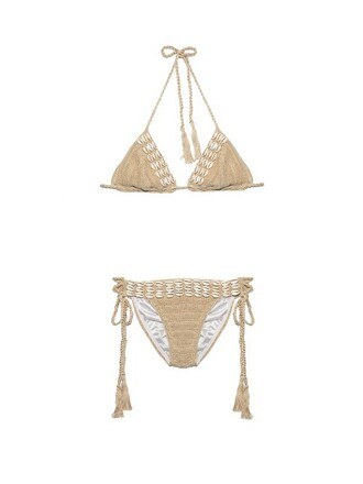 bikini crochet bikini crochet beige swimwear