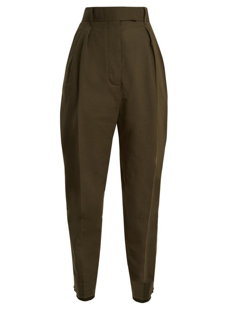 Haider Ackermann high cotton khaki pants