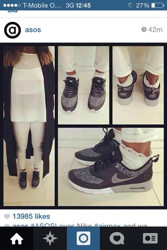 shoes black trainers nike air max asos polka dots trendy nike shoes nike air max thea instagram
