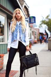 jacket,denim,blue,bag,handbag,black,black bag with gold details,gold zip