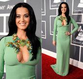 dress,grammy,celebrity,mint,katy perry