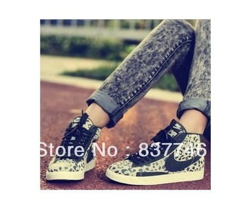 Blazer High Cut Fashion Shoes Leopard  Women Men Sneakers Unisex Shoes 536698 With Free Shipping US5.5 US10-in Sneakers from Shoes on Aliexpress.com
