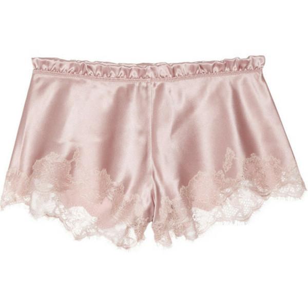 pants shorts lace pink pink shorts lace shorts old pink cute shorts cute underwear pastel