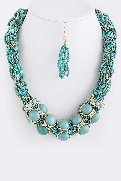 Miranda Beaded Braid Necklace