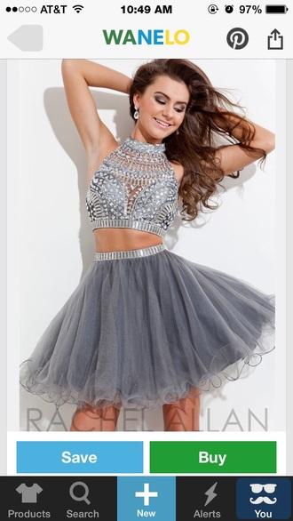 dress homecoming dress grey dress