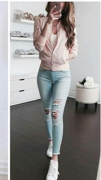 jacket pink cute pink bomber jacket