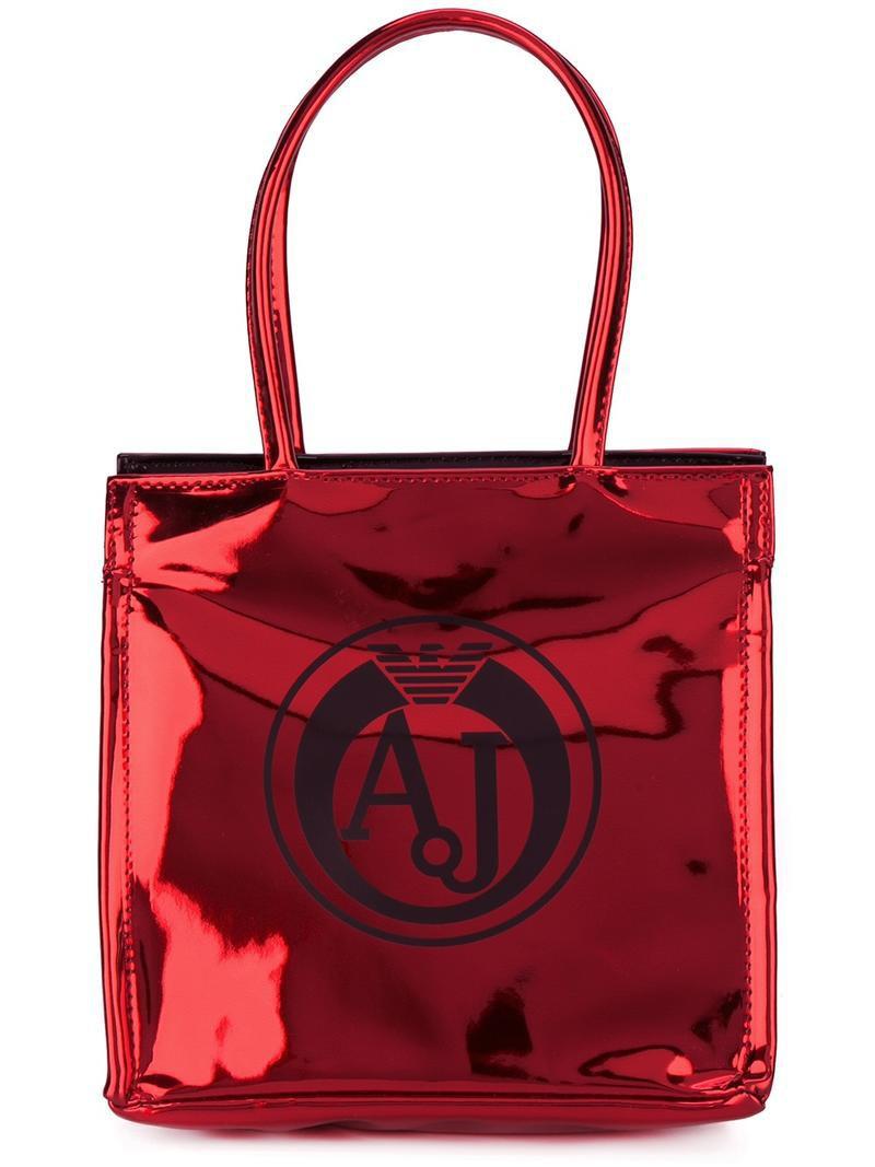 armani jeans logo plaque shoulder bag women pvc one size women 39 s black pvc wheretoget. Black Bedroom Furniture Sets. Home Design Ideas