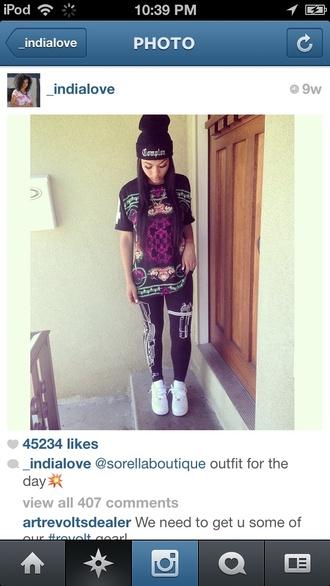 pants india westbrooks leggings black gun