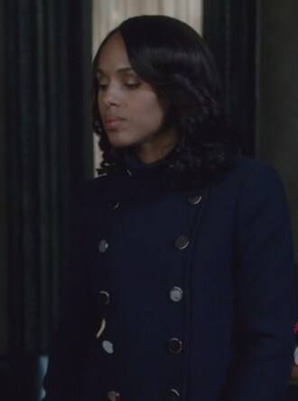 jacket coat blue olivia pope scandal wool double breasted kerry washington