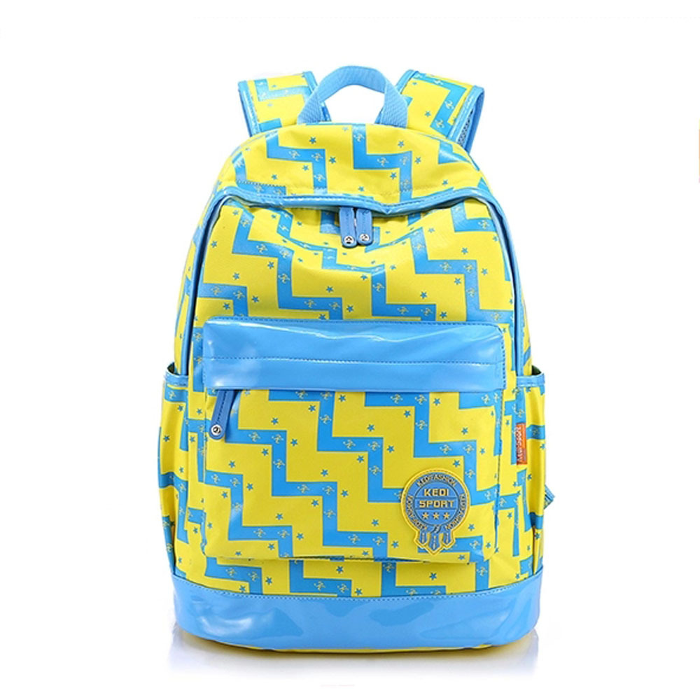 [grxjy5204234]fashion geometric floral print backpack travelling school bag