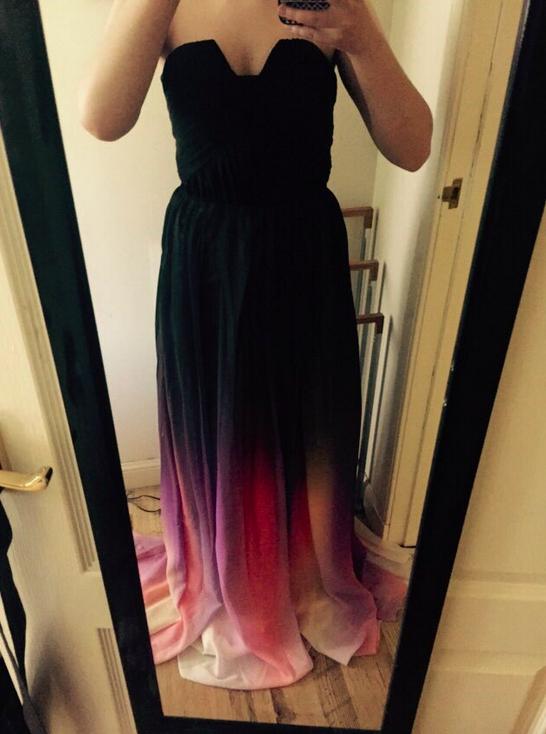 d422d7d8be9 Gradient Ombre Chiffon Prom Dress