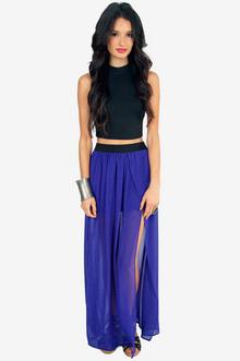 Emsee Slit Maxi Skirt - Tobi