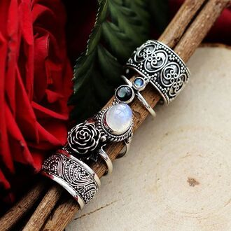 jewels shop dixi sterling silver ring jewelry boho bohemian grunge goth witchy
