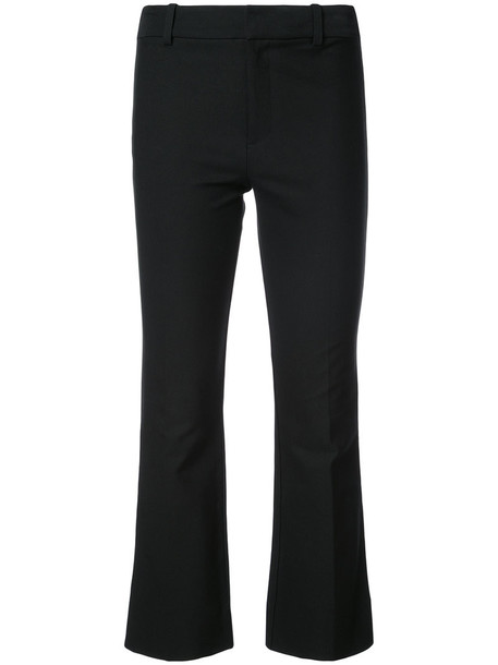 DEREK LAM 10 CROSBY flare cropped women cotton black pants