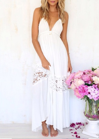 dress maxi dress white dress lace dress lace