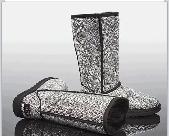 boots studded shoes fashion style ugg boots diamonds diamond studs winter boots winter outfits